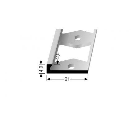 Ukončovací profil L 2,5 mm | Küberit 300 G