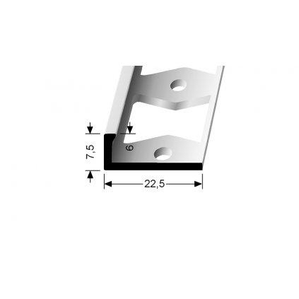 Ukončovací profil L 6 mm | Küberit 307 G