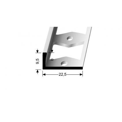 Ukončovací profil L 8 mm | Küberit 303 G