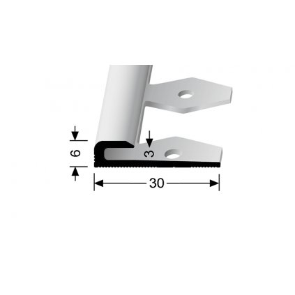 Ukončovací profil pro 3 mm, hladký | Küberit 801 EB