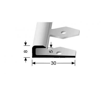 Ukončovací profil pro 5 mm, hladký | Küberit 802 EB