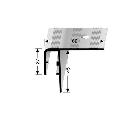 Schodový profil 60 x 27 mm pro LED podsvícení | Küberit 890