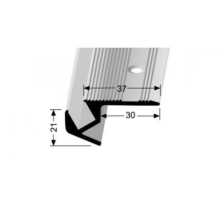 Schodový profil 37 x 21 mm pro LED osvětlení | Küberit 891