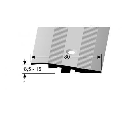 Zátěžový nájezdový profil 80 x 11 mm - zátěž do 2 t | Küberit 268