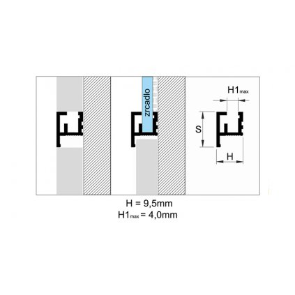 Profil ozdobný 12 mm - hliníkové LISTELLO 2