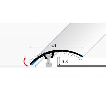 Přechodový profil 41 mm - oblý (samolepící i narážecí)