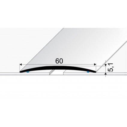 Přechodový profil 60 mm - oblý