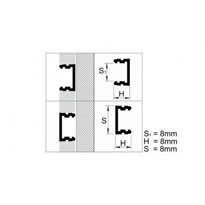 Profil ozdobný 12 mm - hliníkové LISTELLO