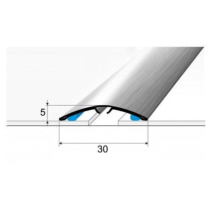 Přechod 30 a 40 mm - oblý - nerez kartáčovaná (narážecí i samolepící)