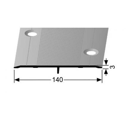 Přechodový profil 140 mm - plochý   Küberit 470 S