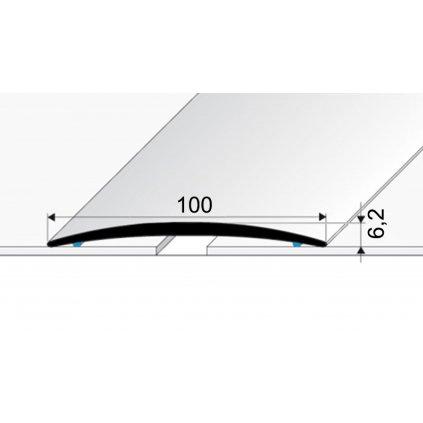 Přechodový profil 100 mm -  oblý