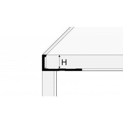 Ukončovací profil L 250 cm