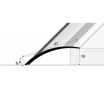 Přechodový profil 61 mm - oblý