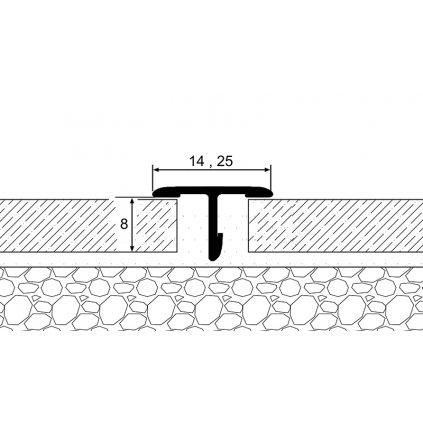 Přechodový dilatační profil T