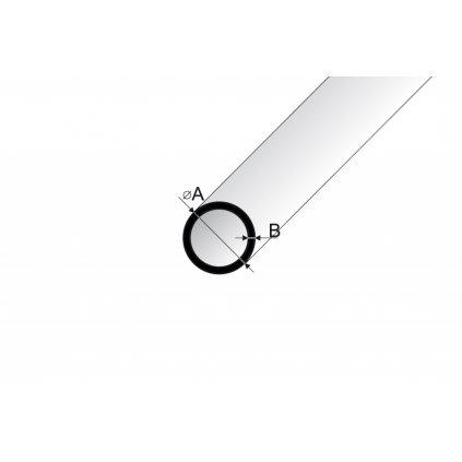 Trubka hliníková 2m stříbrný elox