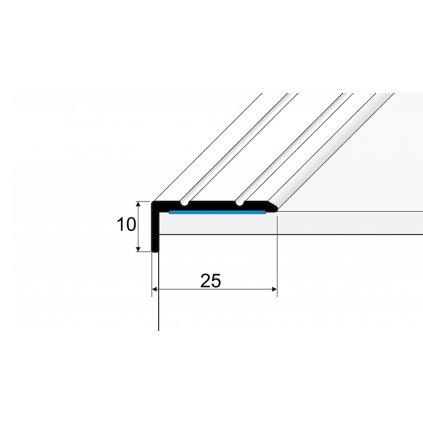 Schodová hrana 25 x 10 mm
