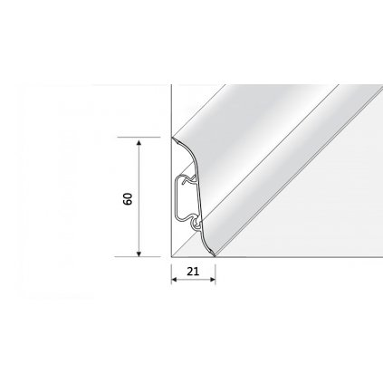 Soklový profil OPTIMA 60 (výška profilu 60 mm)