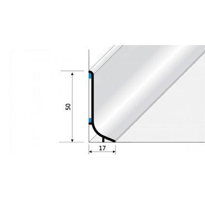 Soklový hliníkový profil 50 mm