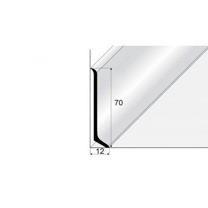 Soklový hliníkový profil 70 mm
