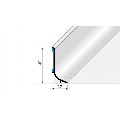 Soklový hliníkový profil - 40 mm