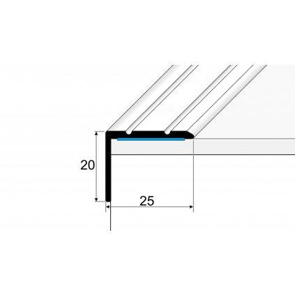 Schodová hrana 25 x 20 mm