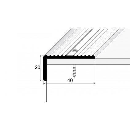Schodová hrana 40 x 20 mm