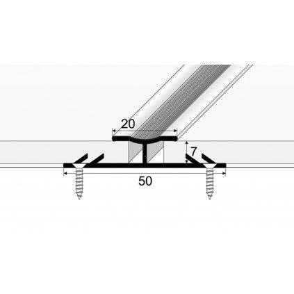 Spojovací kobercový profil 20 mm
