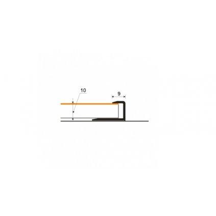 Ukončovací profil 9 mm pro laminát 9 - 10 mm