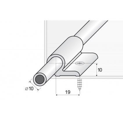 Kobercová tyč 100 cm