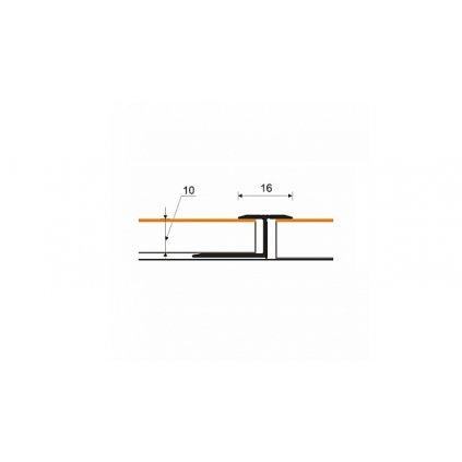 Dilatační profil 16 mm pro laminát 9 - 10 mm