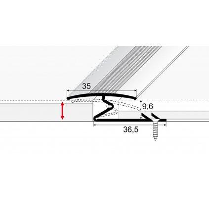 Spojovací kobercový profil 35 mm