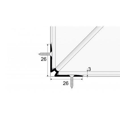 Schodový vnitřní profil pro krytiny do 3mm