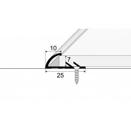 Ukončovací kobercový a podlahový profil - do 7 mm