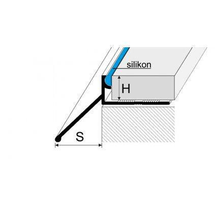 Ukončovací profil L s okapničkou