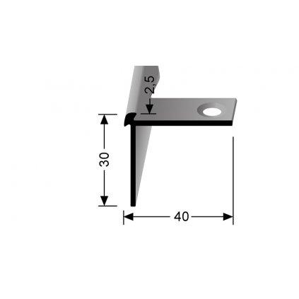Schodový profil pro 2,5 mm | Küberit 870 EB