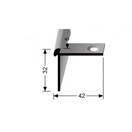 Schodový profil pro 5 mm   Küberit 873 EB