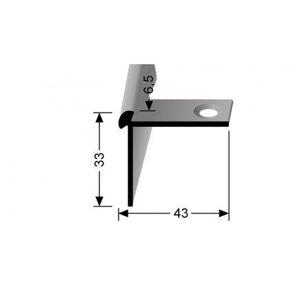 Schodový profil pro 6,5 mm   Küberit 874 EB