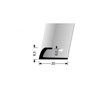 Ukončovací profil do 6 mm   Küberit 362