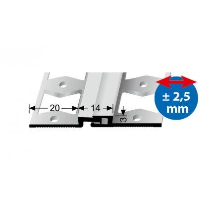 Dilatační profil Küberit 317G pro krytiny do 3mm