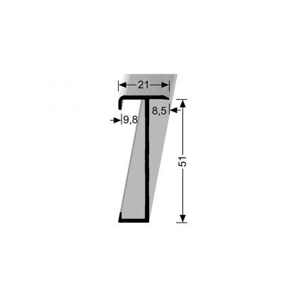 Schodový profil pro krytiny do 9,8 mm | Küberit 847