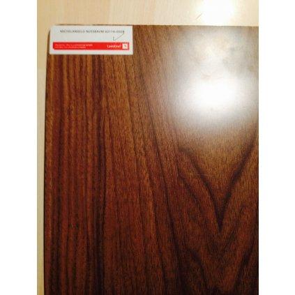 1FLOOR Ořech laminátová podlaha 8mm matný hedvábný povrch AC5, V-drážka
