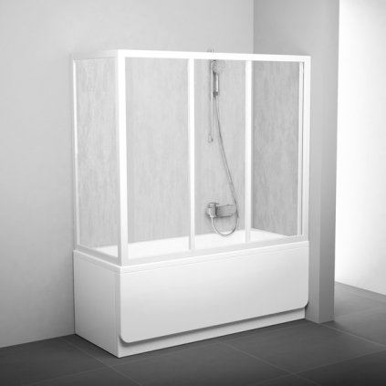 Pevná stěna vanová APSV APSV-70 bílá+rain  + voucher + Dodatečná sleva 2% kód: KOUPELNA