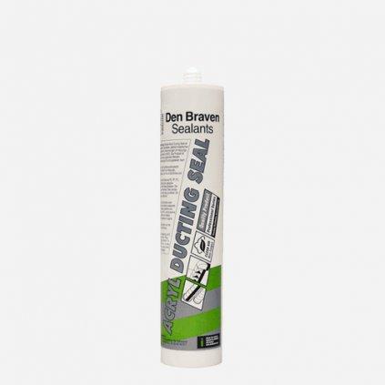 Den Braven - Acryl Ducting Seal, kartuše 310 ml, šedá-stříbřitá