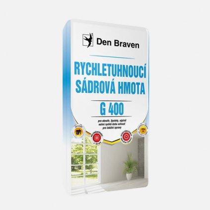 Den Braven - Rychletuhnoucí sádrová hmota G400, pytel 5 kg, bílá