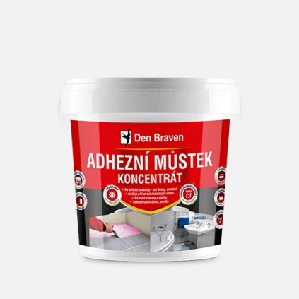 Den Braven - Adhezní můstek koncentrát, kbelík 2,5 kg, růžový