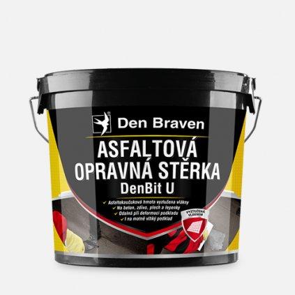 Den Braven - Asfaltová opravná stěrka DenBit U, kbelík 10 kg, černá