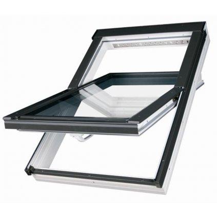 Bílé plastové střešní okno FAKRO PTP-V U3 66x98