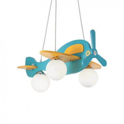 Dětský závěsný lustr Ideal Lux Avion-1 SP3 blu 136325 modrý