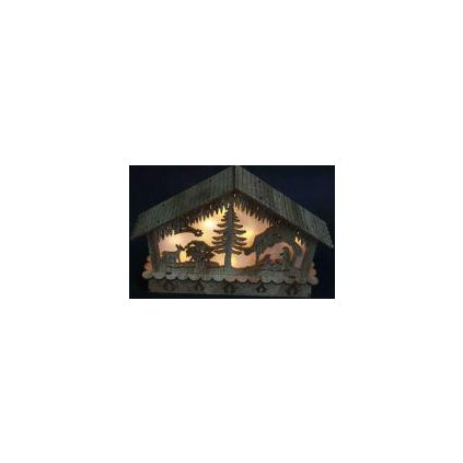 Dřevěný betlém na baterky 33824