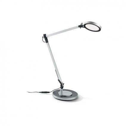 LED Stolní lampa Ideal Lux Futura TL1 alluminio 204895 10W šedá